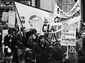 Right To Work march, London, 1975. East London Claiments Union - Chris Davies - 1970s,1975,activist,activists,against,Asian,Asians,BAME,BAMEs,banner,banners,black,BME,bmes,CAMPAIGN,campaigner,campaigners,CAMPAIGNING,CAMPAIGNS,Claiments Union,cuts,DEMONSTRATING,Demonstration,DEMON