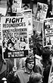 Right To Work march, London, 1975 - Chris Davies - 1970s,1975,activist,activists,against,campaign,campaigner,campaigners,campaigning,CAMPAIGNS,cut,cuts,DEMONSTRATING,Demonstration,DEMONSTRATIONS,FACTORIES,factory,Fisherbendix,job cuts,job loss,jobless