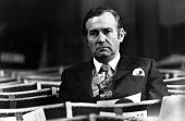 Disgraced Labour Party MP John Stonehouse, Labour Party Conference Blackpool 1975. He was a Czech spy - Chris Davies - 30-09-1975
