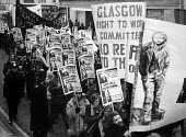 Right To Work march, London, 1975. Glasgow committee - Chris Davies - 1970s,1975,activist,activists,against,ban,banner,banners,banning,campaign,campaigner,campaigners,campaigning,CAMPAIGNS,cut,cuts,DEMONSTRATING,Demonstration,DEMONSTRATIONS,Glasgow,job cuts,job loss,job