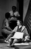 Director Joan Littlewood on the set of Forward Up Your End, written by Ken Hill, Theatre Royal Stratford East, 1970 - Chris Davies - 29-09-1970