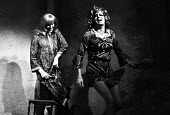 William Roache playing a transvestite in The Disorderly Women by John Bowen, Hampstead Theatre, London, 1970. William Roache later played Ken Barlow in Coronation Street, ITV - Chris Davies - 04-11-1970