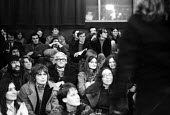 Artist David Hockney in the audience, The People Show, Royal Court Theatre, London 1970 - Chris Davies - 22-10-1970