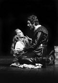 RSC production of When Thou Art King, Aldwych Theatre, London, 1970. Juliet Ackroyd and Michael Gambon - Chris Davies - 25-08-1970