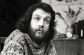 Playwright and Director Mike Leigh on the set of Wholesome Glory, the Royal Court Theatre Upstairs, London, 1973 Later becoming the BBC TV Play for Today Nuts in May - Chris Davies - 20-02-1973
