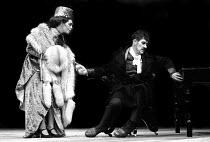 Sara Kestelman and Ian McKellen in The Marquis of Keith by Frank Wedekind, Aldwych Theatre, London, 1974 - Chris Davies - 19-11-1974