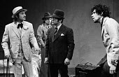 Neil Johnston as Fingers, Kenneth Cranham as Santee, Bob Hoskins as Beaujo & Stephen Rea as Cody in Geography Of A Horse Dreamer by Sam Shepard, Upstairs at the Royal Court Theatre, London, 1974 - Chris Davies - 18-02-1974