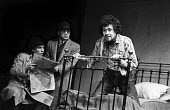 Kenneth Cranham (Santee) , Bob Hoskins (Beaujo) and Stephen Rea (Cody) in Geography Of A Horse Dreamer written and directed by Sam Shepard, Royal Court Theatre Upstairs, London, 1974 - Chris Davies - 18-02-1974