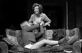 Malcolm McDowell and Beryl Reid in Entertaining Mr Sloane by Joe Orton, Royal Court Theatre, London, 1975 - Chris Davies - 16-04-1975