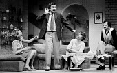 Richard Briers, Peter Bowles, Cheryl Kennedy and Phyllida Law in Absent Friends by Alan Ayckbourn, Garrick Theatre, London, 1975 - Chris Davies - 22-07-1975