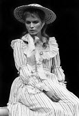 Mia Farrow as Ann Leete, RSC production of The Marrying Of Ann Leete, Aldwych Theatre, London, 1975 - Chris Davies - 1970s,1975,ACE,act,acting,actor,actors,actress,actresses,Arts,cities,city,Culture,drama,DRAMATIC,FEMALE,London,maker,makers,making,Mia Farrow,people,person,persons,play,PLAYING,plays,production,RSC,st