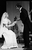 Mia Farrow and John Wood in RSC production of Ivanov, Aldwych Theatre, London, 1976 - Chris Davies - 1970s,1976,ACE,act,acting,actor,actor actors,actors,actress,actresses,Arts,cities,city,Culture,drama,DRAMATIC,FEMALE,John Wood,London,maker,makers,making,male,man,men,Mia Farrow,people,person,persons,