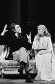 Mia Farrow and John Wood in RSC production of Ivanov, Aldwych Theatre, London, 1976 - Chris Davies - 01-09-1976