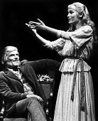 Sebastian Shaw and Mia Farrow in RSC production of Ivanov, Aldwych Theatre, London, 1976 - Chris Davies - 01-09-1976