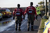 Emergency services gather in Jaywick under severe flood warning from a storm surge. Essex - Jess Hurd - 13-01-2017