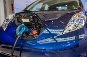 Detroit, Michigan, Nissan Leaf electric vehicle, North American International Auto Show - Jim West - 09-01-2017