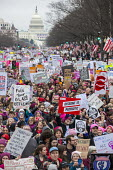 USA, Women's March on Washington DC. Over a million protest against Donald Trump on his first day as President - Jim West - 21-01-2017