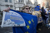 Pro EU protesters outside the Supreme Court which ruled that the Prime Minister must seek the permission of MPs before she can trigger Brexit Article 50, Westminster, London. - Jess Hurd - 24-01-2017