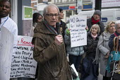 Ken Loach speaking Vigil for Lawrence Bond, who died after being found fit for work and losing his disability benefits, Kentish Town Jobcentre London. - Philip Wolmuth - 2010s,2017,activist,activists,agency,Austerity Cuts,benefit,benefit cuts,benefits,CAMPAIGN,campaigner,campaigners,CAMPAIGNING,CAMPAIGNS,centre,centres,cut,cuts,death,deaths,DEMONSTRATING,demonstration