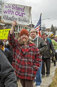 Hamtramck, Michigan USA Protest against the ban on immigration from seven Muslim nations by President Trump. Hamtramck is a city of immigrants, a large number of whom are from Yemen. The city is gover... - Jim West - 29-01-2017