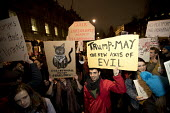 Thousands protest against American immigration ban and the invitation to President Donald Trump of a state visit, Westminster, London - Jess Hurd - 30-01-2017