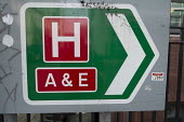 Accident & Emergency entrance sign to University College London Hospital. - Philip Wolmuth - 03-02-2017