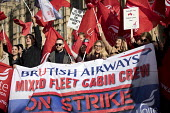 Striking British Airways cabin crew lobby Parliament in a dispute over low pay, Westminster, London - Jess Hurd - 07-02-2017