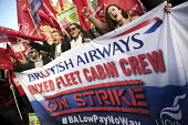 Striking British Airways cabin crew lobby Parliament in a dispute over low pay, Westminster, London - Jess Hurd - 2010s,2017,activist,activists,BA,banner,banners,British Airways,cabin crew,CAMPAIGN,campaigner,campaigners,CAMPAIGNING,CAMPAIGNS,crew,DEMONSTRATING,Demonstration,DEMONSTRATIONS,dispute,disputes,EARNIN