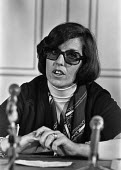 Betty Williams one of the leaders of the Northern Ireland Peace Movement. 1976 press conference, London - Martin Mayer - 08-11-1976
