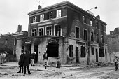 George pub, burned down in the Brixton riots the day after. April 1981. - NLA - 13-04-1981