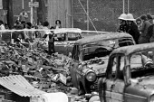 Brixton riots, London 1981 Burnt out cars and buildings the day after - NLA - 12-04-1981