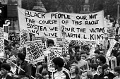 Anti racist protest, Toxteth 1981, Liverpool, soon after Toxteth Riots - NLA - 15-08-1981