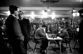 37th Hastings International Chess Congress, 1962. World Champion Mikhail Botvinnik (R) playing against John Littlewood of Great Britain. It was the first return by Botvinnik to Hastings since the 1935... - Alex Low - 03-01-1962
