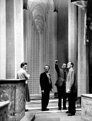 Italian Film and Theatre Director Luchino Visconti pointing at his production of Don Carlos by Verdi Royal Opera House London 1958 - Alan Vines - 07-05-1958