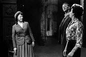 Theatre Workshop Director Joan Littlewood in rehearsal with actors Bryan Pringle and Miriam Karlin for Fings Ain't What They Used To Be, Theatre Royal Stratford East London 1959 - Alan Vines - 04-02-1959