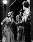 Theatre Workshop Director Joan Littlewood, rehearsal with actors Bryan Pringle and Miriam Karlin of Fings Ain't What They Used To Be, Theatre Royal Stratford East, London 1959 - Alan Vines - 04-02-1959