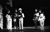 Theatre Workshop production of Oh What A Lovely War! directed by Joan Littlewood at Theatre Royal Stratford East 1963 - Romano Cagnoni - 1960s,1963,ACE,act,acting,actor,actors,Arts,Brian Murphy,cities,city,Culture,drama,DRAMATIC,Epic theatre,maker,makers,making,male,man,men,Murray Melvin,musical,Oh What A Lovely War,people,person,perso