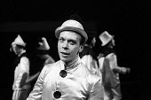 Brian Murphy in Theatre Workshop production of Oh What A Lovely War ! directed by Joan Littlewood at Theatre Royal Stratford East 1963 - Romano Cagnoni - 1960s,1963,ACE,act,acting,actor,actors,Arts,Brian Murphy,cities,city,Culture,drama,DRAMATIC,Epic theatre,maker,makers,making,male,man,men,musical,Oh What A Lovely War,people,person,persons,play,PLAYIN
