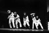 Theatre Workshop production of Oh What A Lovely War! directed by Joan Littlewood at Theatre Royal Stratford East 1963 Brian Murphy, Larry Dann, Victor Spinetti, Murray Melvin and Colin Kembal - Romano Cagnoni - 19-03-1963