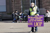 Supporters on the streets, Paul Nuttall UKIP By Election, Stoke on Trent Central, Staffordshire - John Harris - 2010s,2017,bigotry,Brexit,by election,campaign,campaigning,CAMPAIGNS,cities,city,DEMOCRACY,DISCRIMINATION,election,elections,equal,equality,eurosceptic,Euroscepticism,eurosceptics,INEQUALITY,male,man,