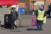 Supporters on the streets, Paul Nuttall UKIP By Election, Stoke on Trent Central, Staffordshire - John Harris - 2010s,2017,BAME,BAMEs,bigotry,Black,Black and White,BME,bmes,Brexit,by election,campaign,campaigning,CAMPAIGNS,cities,city,DEMOCRACY,DISCRIMINATION,diversity,election,elections,equal,equality,ethnic,e