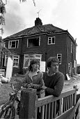 Flixborough Chemical Plant Disaster 1974 Couple outside their damaged house a mile from the explosion at Flixborough Chemical Nypro (UK) plant 1974, Flixborough, Nr Scunthorpe, that killed 28 and seri... - Peter Arkell - 02-06-1974