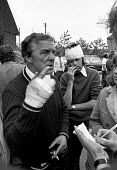 Flixborough Chemical Plant Disaster 1974 two of the injured workers. Explosion at Flixborough Chemical Nypro (UK) plant, Flixborough, Nr Scunthorpe, killing 28 people and seriously injuring 36. - Peter Arkell - 02-06-1974