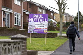 Vote Paul Nuttall UKIP board, Stoke on Trent Central, Staffordshire, on the way home from school - John Harris - 2010s,2017,BAME,BAMEs,Black,BME,bmes,board,boards,boy,boys,Brexit,by election,campaign,campaigning,CAMPAIGNS,candidate,candidates,child,CHILDHOOD,children,cities,City,DEMOCRACY,diversity,election,elec
