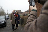 Gareth Snell, Labour Party canvassing, Bentilee, Stoke on Trent Central, Staffordshire posing for a photograph - John Harris - 2010s,2017,amateur,by election,camera,cameras,campaign,campaigning,CAMPAIGNS,candidate,candidates,CANVASING,canvassing,cities,City,DEMOCRACY,election,elections,Housing Estate,Labour Party,male,man,men