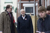 Gareth Snell and Jeremy Corbyn MP, Labour Party canvassing, Cauldon, Stoke on Trent Central, Staffordshire - John Harris - 2010s,2017,by election,campaign,campaigning,CAMPAIGNS,candidate,candidates,CANVASING,canvassing,cities,City,DEMOCRACY,election,elections,Housing Estate,Jeremy Corbyn,Labour Party,Left,left wing,Leftwi