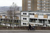 Flats and high rise, Hanley, Stoke on Trent, Staffordshire - John Harris - 2010s,2017,blocks,building,buildings,child,CHILDHOOD,children,cities,City,excluded,exclusion,FEMALE,HARDSHIP,High Rise,home,homes,house,houses,Housing,Housing Estate,impoverished,impoverishment,INEQUA