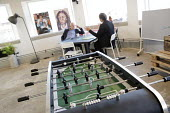 LAUNCH22 Start Up Incubator, Tempest building, Tithebarn Street, Liverpool, table football machine - Jess Hurd - 2010s,2016,accommodation,building,BUILDINGS,charitable,charity,cities,City,communicating,communication,conversation,conversations,dialogue,discourse,discuss,discusses,discussing,discussion,EBF,Economi