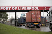 Peel Ports, Port of Liverpool. Container lorries arriving - Jess Hurd - 28-09-2016