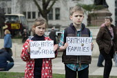 One Day Without Us flag mob in support of migrants, Parliament Square, London - Philip Wolmuth - 2010s,2017,activist,activists,Anti Racism,anti racist,boy,boys,Brexit,CAMPAIGN,campaigner,campaigners,CAMPAIGNING,CAMPAIGNS,child,CHILDHOOD,children,DEMONSTRATING,demonstration,DEMONSTRATIONS,Diaspora